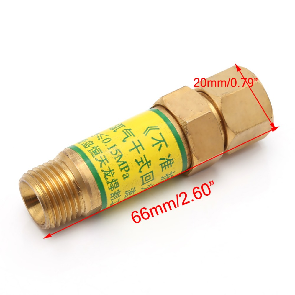 Flashback Arrestor M16x1.5 Oxygen Acetylene Check Valve For Pressure Reducer Cutting Torch