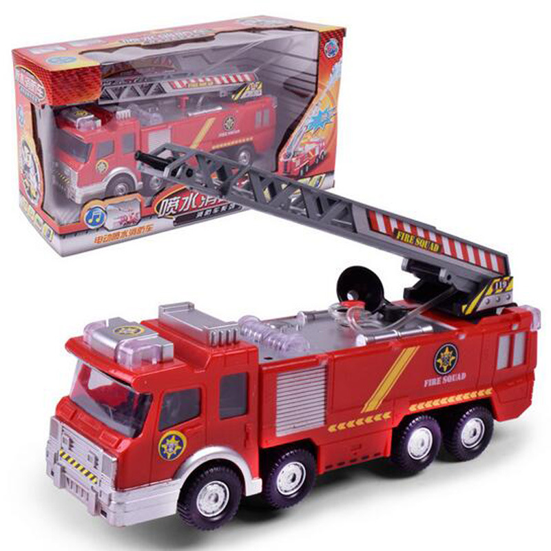 CHILDREN'S Toy Fireman Sam Universal Music Fire Grams Water Spouting Electric Water Spouting Fire Truck