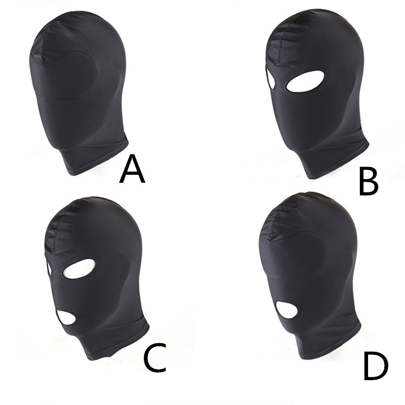Fetish M L 4 Style Erotic Mask Hood Sexy Lingerie Open Mouth Eye Mask BDSM Headgear Cosplay Slave Bondage Intimate Goods