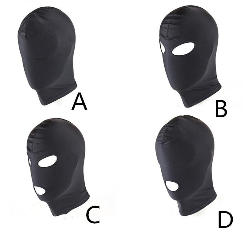 Fetish M L 4 Style Erotic Mask Hood Sexy Lingerie Open Mouth Eye Mask BDSM Headgear Cosplay Slave Bondage Intimate Goods