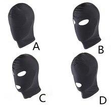 Фетиш M L 4 стиля эротическая маска капюшон Сексуальное белье маска для глаз с открытым ртом БДСМ головной убор Косплей рабство интимные това...