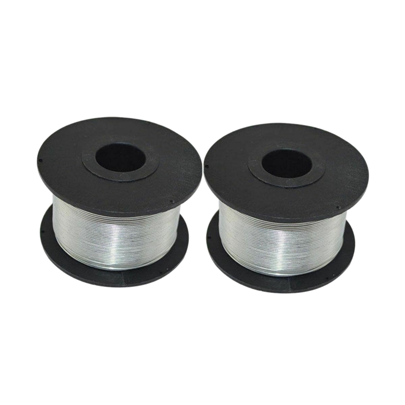 Promotion! 2PC 100M 0.8mm Rebar Tier Tying Wire Coil For Automatic Rebar Tier Tying Machine