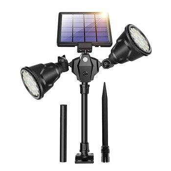 Thrisdar 36LED Outdoor Solar Spotlight 2 Head Motion Sensor Solar Security Light 1000LM Garden Landscape Patio Solar Porch Light