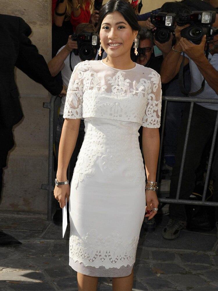 2020 Mother Of The Bride Dresses Plus Size Knee Length Wedding Evening Formal Party Dress Guest Vestidos De Fiesta De Noche