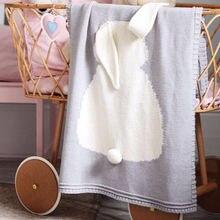Детские вязаные одеяла с кроликом вязаное крючком одеяло для