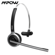 Mpow M5 Bluetooth 5.0 Headset Wireless Over Head Noise Canceling Headphones With Crystal Clear Microphone For Trucker/Driver