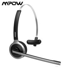 Mpow M5 bluetooth 5.0ヘッドセットワイヤレスオーバー · ヘッドノイズキャンセルヘッドフォンとマイクのためのトラック運転手/ドライバ