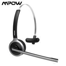 Mpow m5 bluetooth 5.0 fone de ouvido sem fio sobre cabeça com cancelamento de ruído fones de ouvido com microfone cristalino para camionista/motorista