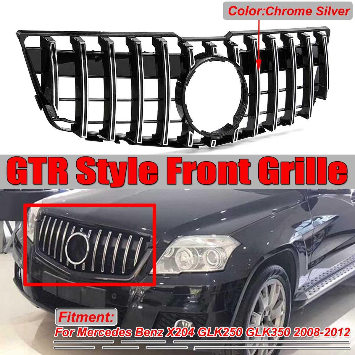 Новый X204 GT гриль GTR автомобильный передний бампер решетка гриль для Mercedes для Benz X204 GLK250 GLK350 2008 12 хромированные/черные гоночные грили
