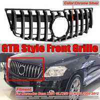 New X204 GT Grill GTR Car Front Bumper Grille Grill For Mercedes For Benz X204 GLK250 GLK350 2008 12 Chrome/Black Racing Grills