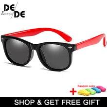 New silicone polarized childrens sunglasses square men and women children glasses UV400 security brand soft