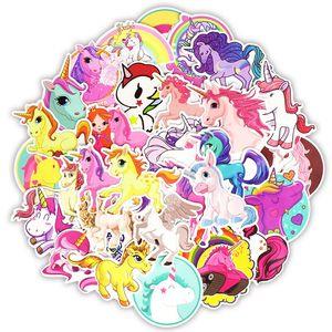 Image 5 - 50pcs/30pcsCartoon Dinosaur Sticker Unicorn Flamingo Unicorn Toy for Children Waterproof Stickers to DIY Scrapbooking Motorcycle