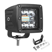 1 Or 2PCS 6 Modes 18W Dual Color Square LED Work Light Bar Spot Flood Truck Driving Fog Lights For Car SUV ATV CE ROHS Certified