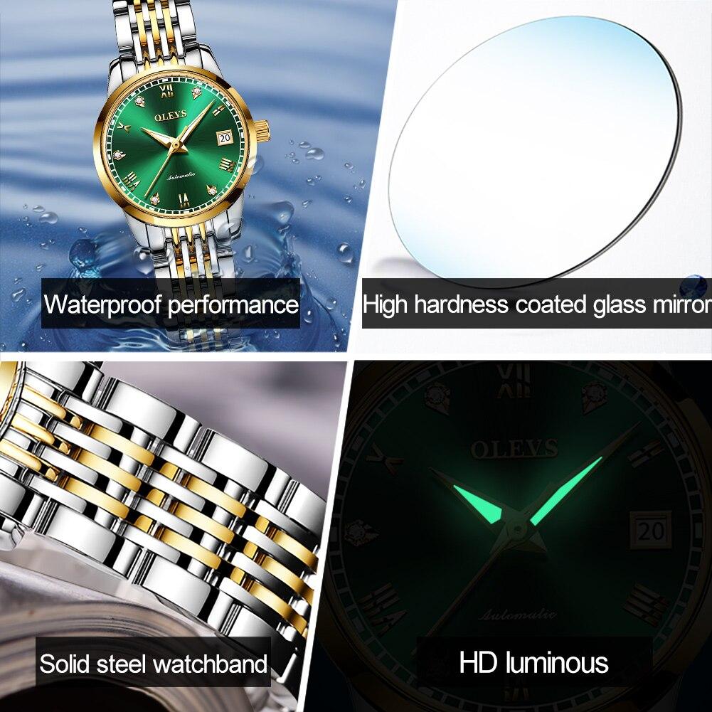 OLEVS  Women Watches Mechanical Watch Luxury Bracelet Wrist Wristwatch Elegant Ladies Automatic Clock Watch Relogio Feminino 6