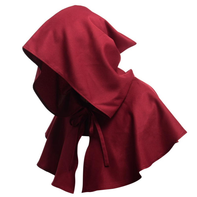 Medieval Period Cosplay Retro Hat Peasant Hood Robin Monks Hood Style Mantle Cowl Hat Renaissance Accessory Y7 S1 New