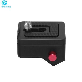 BGNing 1 4 #8222 śruba do mocowania płyta szybkiego uwalniania do kamery statyw kamery światło LED do kamery głowica kulowa Rig Monitor Magic Arm tanie i dobre opinie Aluminium F37428