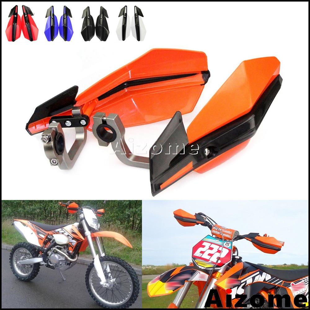 Handguards Motorcycle Hand Guards Brush Bar Orange Universal For KTM EXC EXCF XC XCF XCW XCFW MX EGS SX SXF SXS SMR 50 65 85 125 150 200 250 300 Off Road Motocross Dirt Pit Bike Enduro