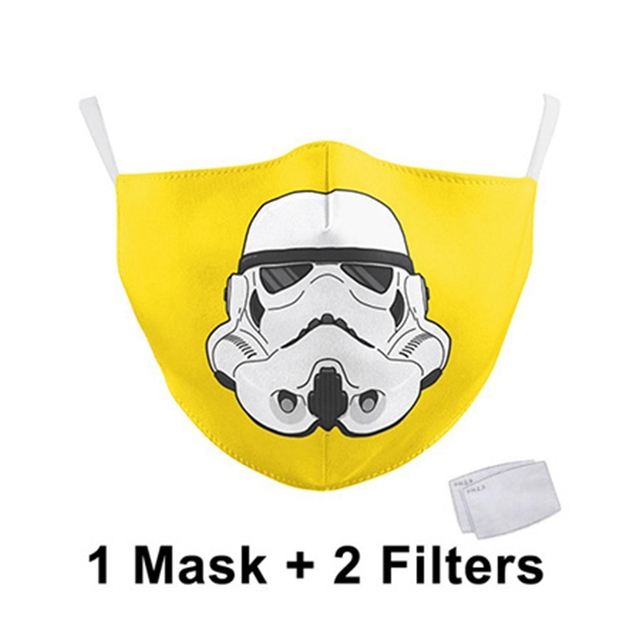 Classic Movie Star War Cosplay Print Face Mask Adult Kid Washable Masks Fabric Reusable PM2.5 Filters Dust Proof 1
