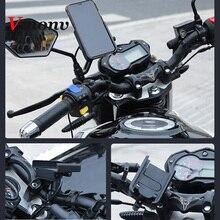 Vmonv אוניברסלי מתכת Chargable אופנוע Rearview מראה טלפון סלולרי מחזיק מעמד Smartphone כידון אופני Moto הר בעל