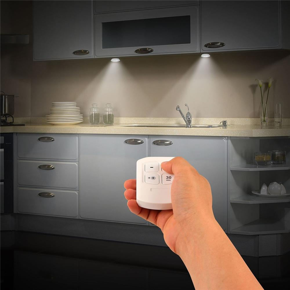 Купить с кэшбэком Dimmable COB LED Under Cabinet Light Lamps Wireless Touch Sensor Remote Controller Wardrobe Stairs LED Night Lamp