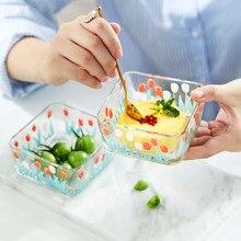 Mili Fengwu lale tatlı kase şeker su kasesi retro kase dondurma kase salata kasesi cam kase tek