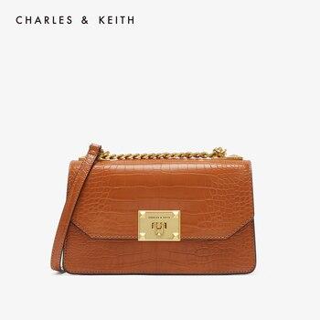 """CHARLES&KEITH Новинка на Весну2020г.CK2-80781126-2Женская сумка с Откидной крышкой, Искусственная кожа с тиснением """"Крокодил"""""""