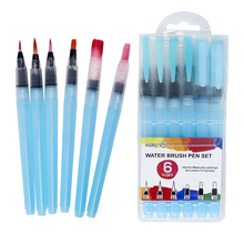 Memory 6PCS Watercolor Paint Brushes Water Pen Set for Drawing Painting Calligraphy Professional Art Supplies