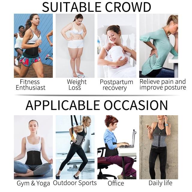 Women Neoprene Body Shaper  Shaper Slimming Belt Waist Trainer Sweat Thermo Fat Burning Shapewear Modeling Strap Girdle Faja 4