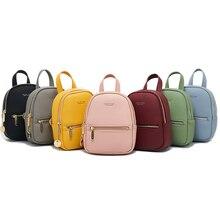 купить Mini Backpack Women PU Leather Shoulder High Quality Youth Teenag Bag Multi-Function Small Bagpack Female Ladies School Backpack дешево