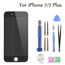 лучшая цена 2019 KHP 100% AAA LCD Screen For iPhone 7 Plus Screen LCD Display Digitizer Touch Module 7 Screens Replacement LCDS