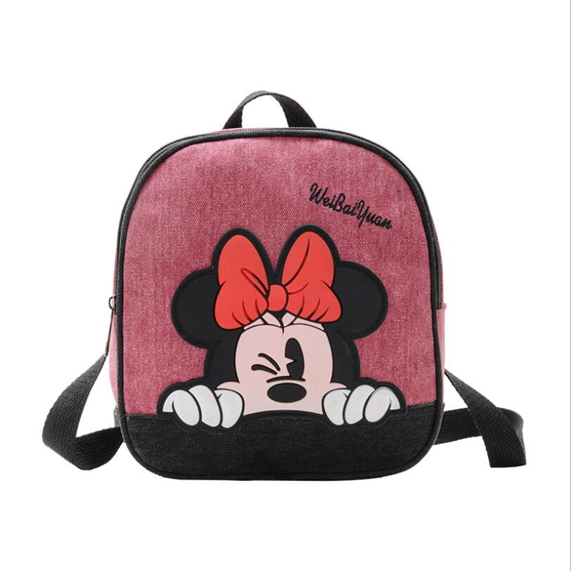 New Cute Kindergarten School Bag Cartoon Minnie Mickey Baby 3-6 Years Old Children Backpack Boy Girl Travel Backpack