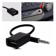 Buy 3.5mm Male AUX Audio Plug Jack To USB 2.0 Female Converter Cable Cord For Car MP3 directly from merchant!