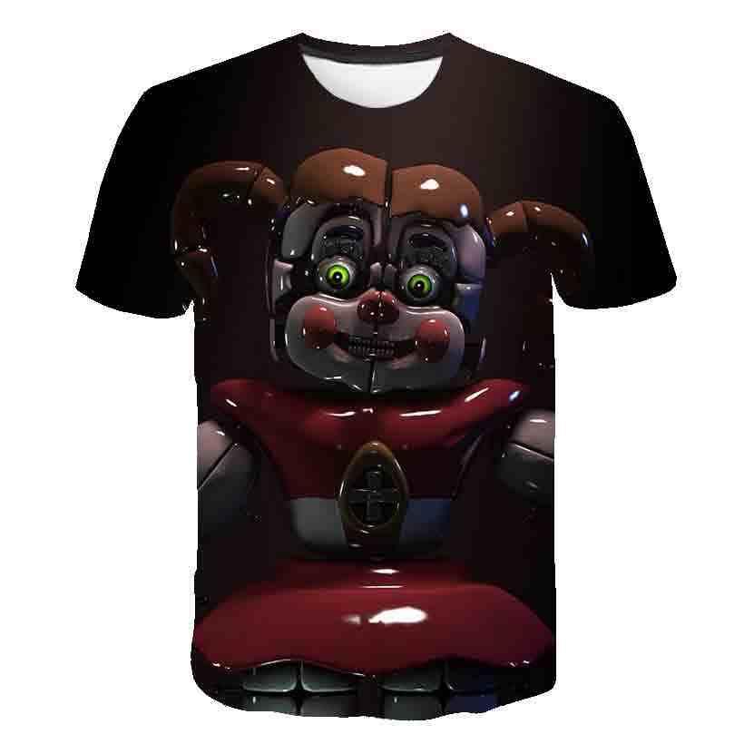 3 Sampai 14 Tahun Anak-anak T Shirt Lima Malam Di Freddy 'S 3D Dicetak T-shirt Anak Laki-laki Anak Perempuan Fashion Lengan Pendek Tshirts fnaf Anak T-shirt