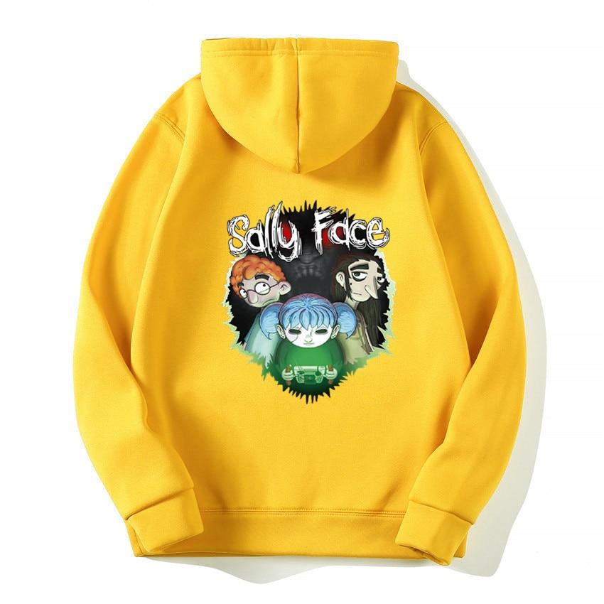 Fashion 2019 Sally Face Cosplay Printed Men's Hoodie Winter Men Women Cotton Hoodies Sweatshirts Hooded Tops Pullover Streetwear