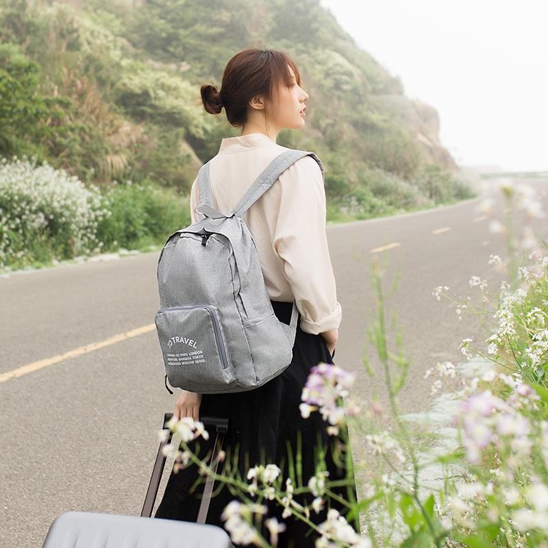 Casual Men Backpack Waterproof Soft Backpack Bag Lightweight Teenagers Travel Fold Bag Large Capacity School Bags Girls