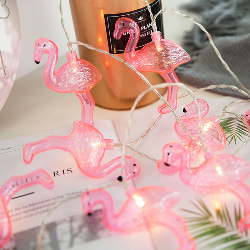 LED Fairy Pink Animal Flamingo Battery USB String Lights 6m LED Decoration For Christmas Garland On The Window Led Lichterkette
