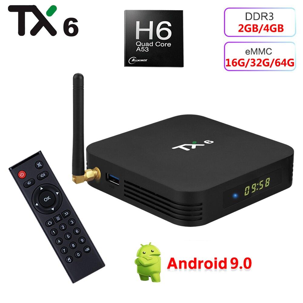 TX6 TV Player 4GB 32GB 64GB 4K Smart Tv Box Bluetooth 2.4GHz 5GHz Dual WiFi