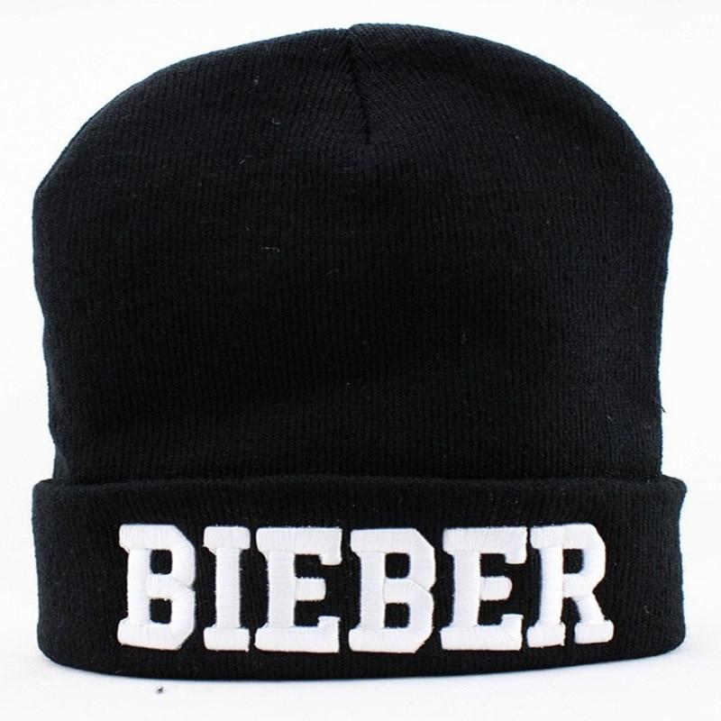 Wholesale & Retail 2017 Fashion Winter Autumn Acrylic Knitte Solid Cap Justin Bieber Beanie Hats For Men Women Girl Toucas