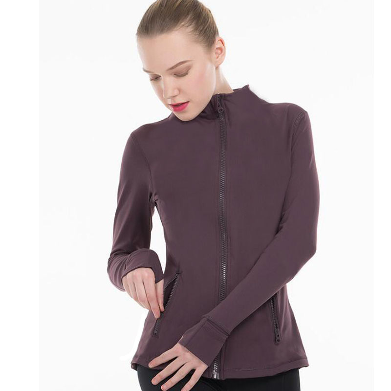 2020 Solid Color Women Skinny Jackets Top Quality Stand Collar  Jackets Outdoor Jacket
