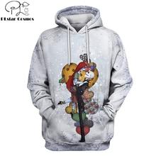 PLstar Cosmos jack skellington Jack Sally 3d hoodies/shirt/Sweatshirt Winter Nightmare Before Christmas Halloween streetwear-17 недорого