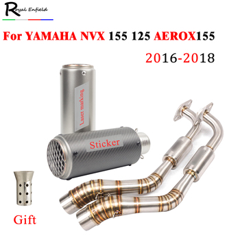 AEROX 155 NVX 155 NVX 125 2016 - 2018 2017 Motorcycle Exhaust Modified For Yamaha front Connection Link Pipe Muffler DB Killer
