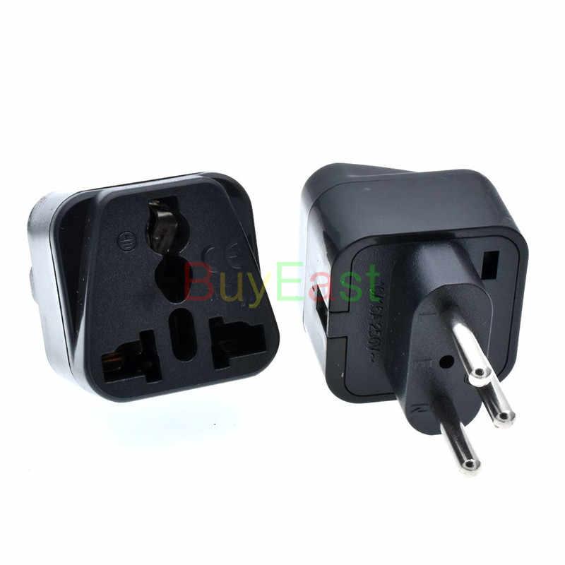 1 шт. швейцарская 3-контактный Мощность штепсельной вилки преобразования ЕС/GE/США/AU/UK/Китай (материк) .... Универсальная электровилка AC100 ~ 250V 10A черного цвета