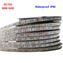 DC12V 1M 2M 3M 4M 5M LED Strip Light 5050 SMD Flexible Lighting Strip IP30/IP65 60leds/m Christmas desk Decor lamp tape