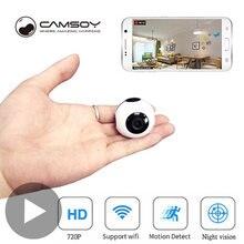 Беспроводная мини камера видеонаблюдения с wi fi и датчиком