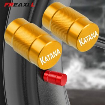For Suzuki KATANA GSX750F GSX 750F 600F GSX 750 F GSX750F One Pair Motorcycle Accessories LOGO Aluminum Wheel Tire Valve caps image