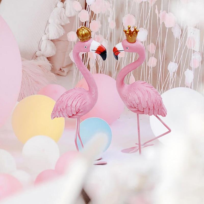 Wedding Artificial Flowers with Flamingo Led Light Car Decoration DIY Silk Flower Valentine's Day Set Wedding Wreath Party Decor - 6