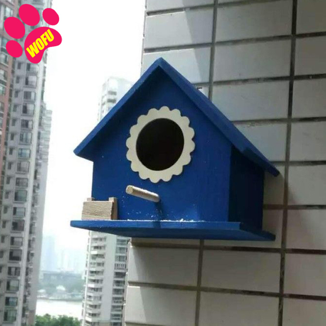 """""""We Love Our Pets"""" Wooden Outdoor Bird Cottage   4"""