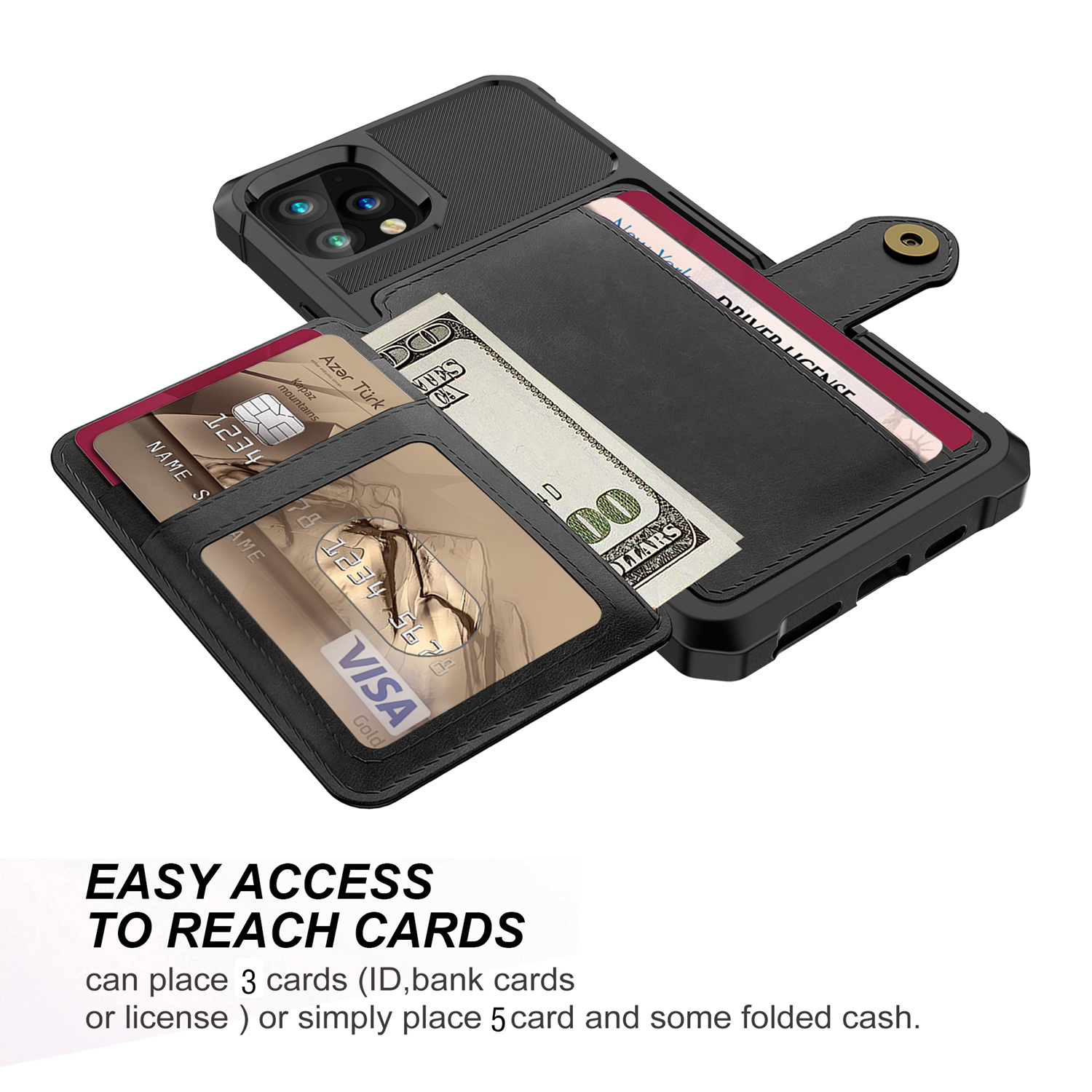 Leather Flip Wallet Case Apple iPhone