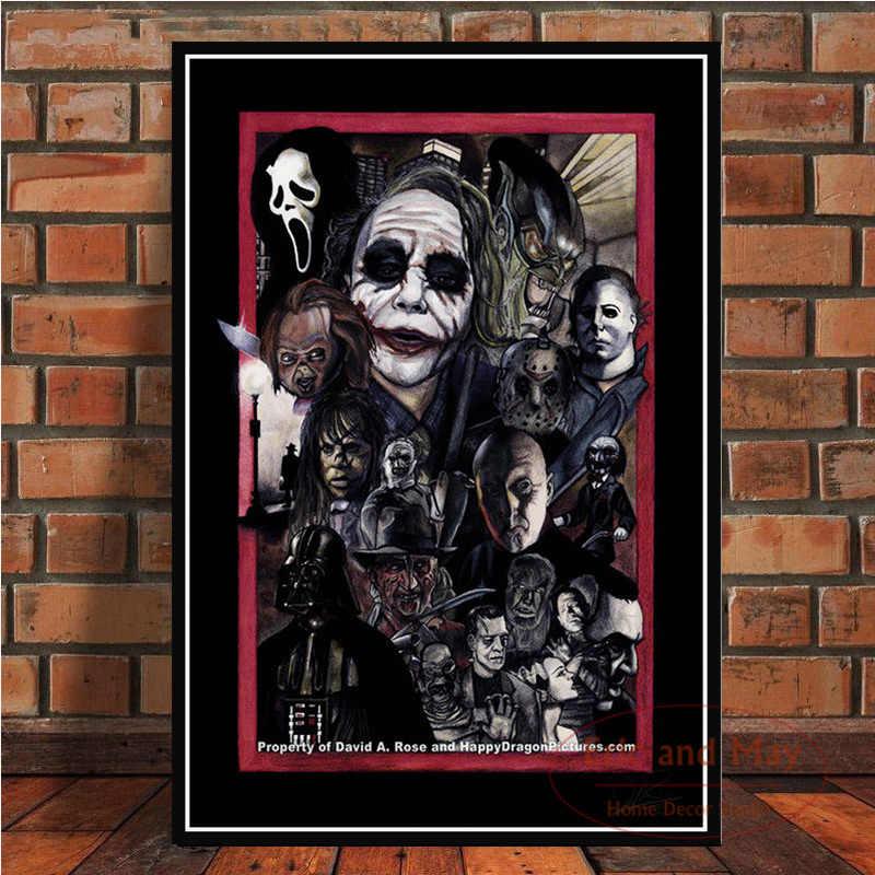 JASON Horror Movie Art Canvas Posters Prints Home Decor 8x14 12x21 FREDDY VS