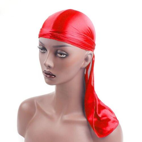 Soyeux Durag Bandanna Turban chapeau perruque Doo chiffon Biker chapeaux bandeau hommes femmes nouveau imité soie tissu bandeau Pirates chapeau